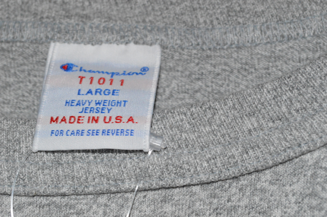 """チャンピオンのT1011の""""洗濯と縮み""""について"""